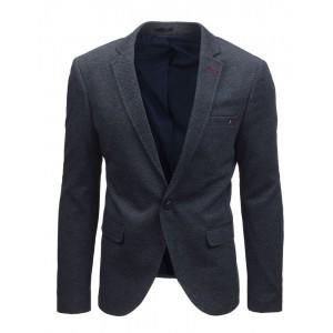 Športovo elegantné sako pre mužov v tmavomodrej farbe