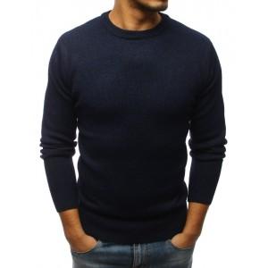 Moderný pánsky sveter tmavo modrej farby