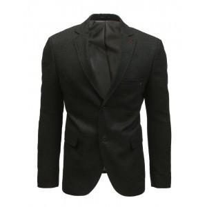 Slim čierne pánske sako casual