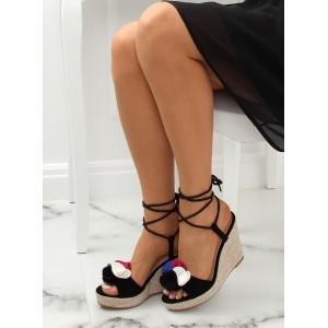 Čierne dámske elegantné sandálky