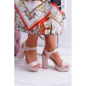 edaff7cb6ff86 Prepletané letné dámske sandále v béžovej farbe - fashionday.eu