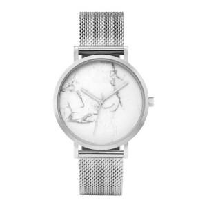 Trendy dámske strieborné hodinky s originálnym dizajnom v ciferníku