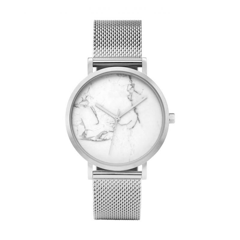 Trendy dámske strieborné hodinky s originálnym dizajnom v ciferníku ea8626546c