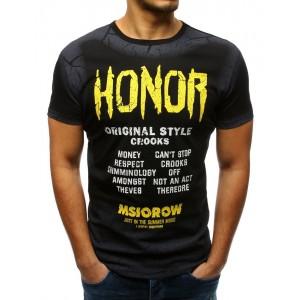Tričko v čiernej farbe s farebnou potlačou pre pánov