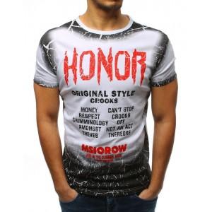 Tričko pre pánov v bielej farbe s krátkym rukávom