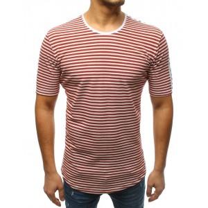 Pánske predĺžené tričko v bordovej farbe