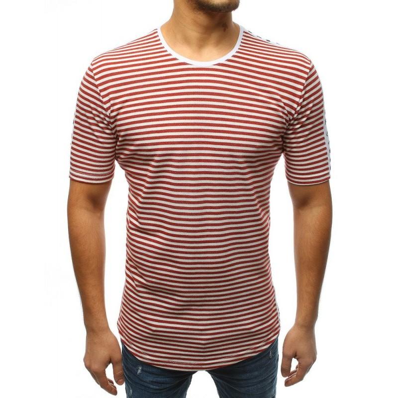 Pánske predĺžené tričko v bordovej farbe b822e3da6e3