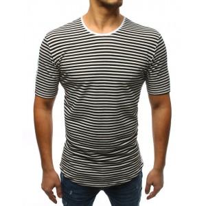 Čierne pánske bavlnené tričko