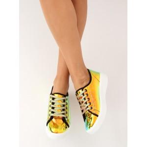 Farebné holografické dámske tenisky