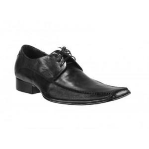Moderné pánske kožené šnurovacie topánky Svadobná obuv pre pánov