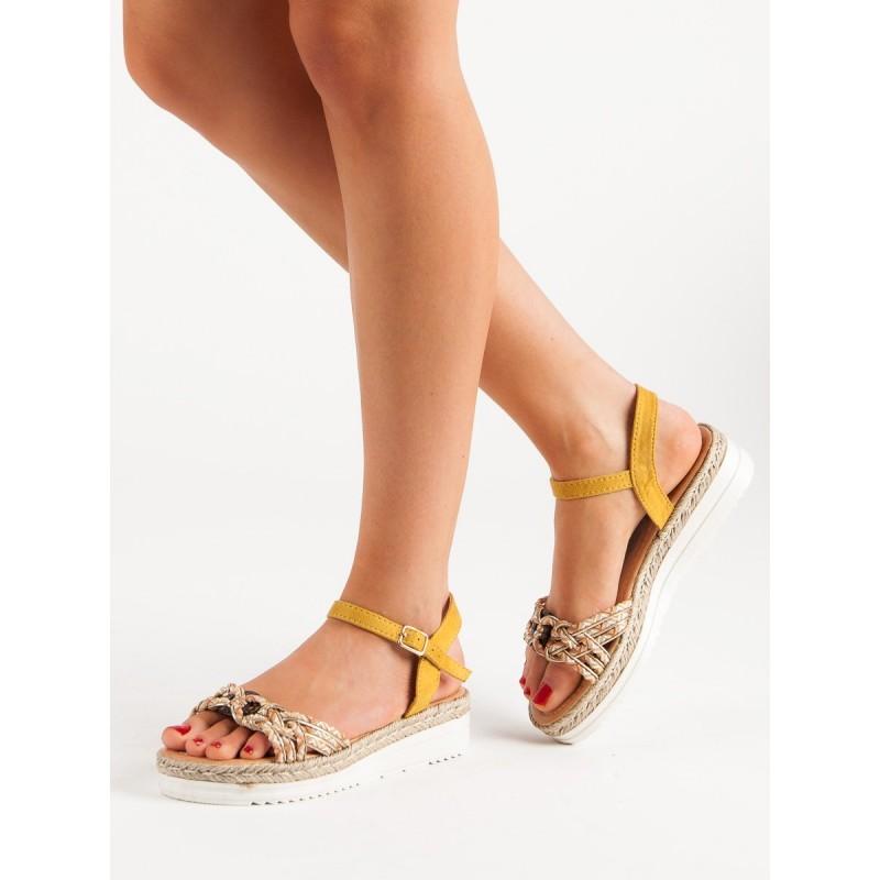 22e2b6f4e80a Štýlové dámske letné sandále na platforme s módny farebným pletencom