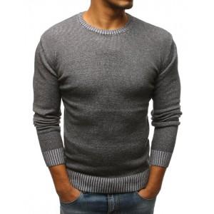 Moderný sveter pre pánov v tmavo sivej farbe