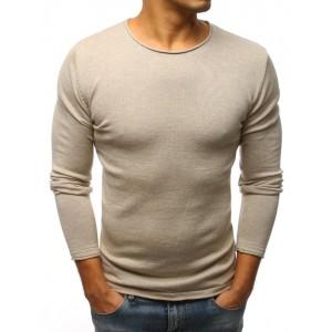 Trendový tenký pánsky sveter v béžovej farbe