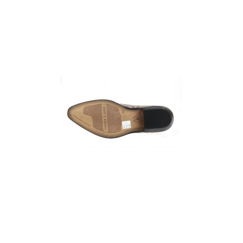 d669c235f17d Štýlové westernové čižmy z pravej kože so vzorom hadia koža béžovej farby -  fashionday.eu