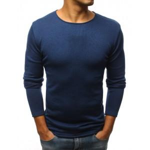 Tmavo modrý jarný sveter pre pánov