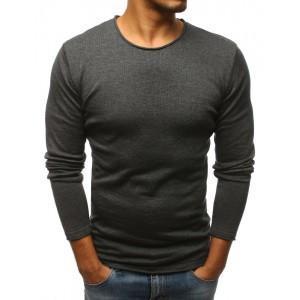 Elegantný pánsky sveter v tmavo sivej farbe