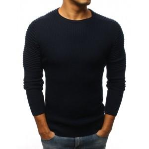 Štýlový tmavo modrý sveter pre pánov