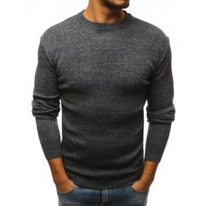 Pánsky tmavo sivý sveter cez hlavu