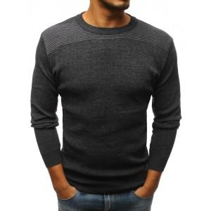 Tmavo sivý spoločenský sveter pre pánov