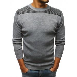 Moderný pánsky sveter sivej farby