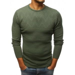 Štýlový pánsky pulóver zelenej farby