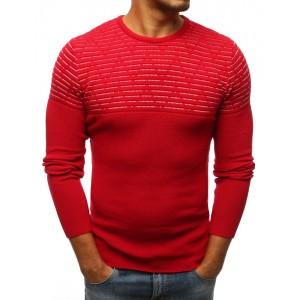 Trendový pánsky pulóver červenej farby