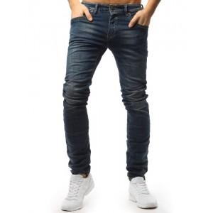 Klasické pánske džínsové nohavice modrej farby