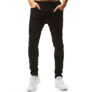 Slim fit nohavice pánske čiernej farby