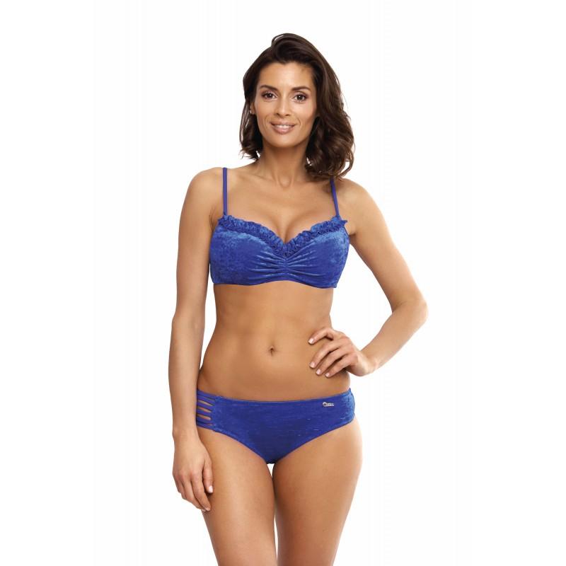 dd4b660d53 Dámske modré elegantné dvojdielne plavky s kosticami