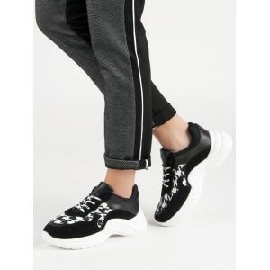 Jednoduché čierno biele dámske topánky