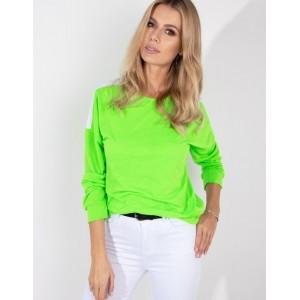 Zelená mikina bez kapucne pre dámy
