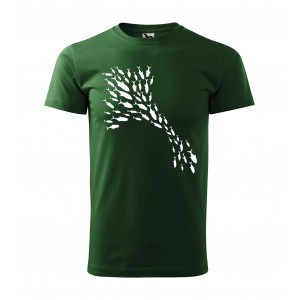 Pánske tričko pre rybárov s potlačou rýb
