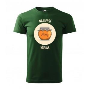 Pánske tričko s krátkym rukávom s potlačou medu