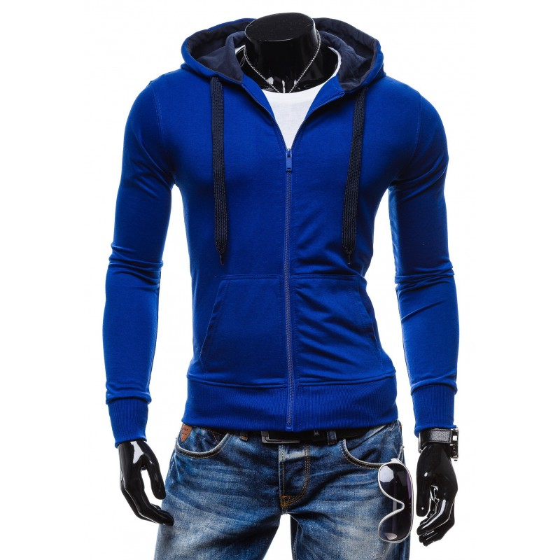 df29381226bd Štýlové pánske mikiny modrej farby s kapucňou - fashionday.eu