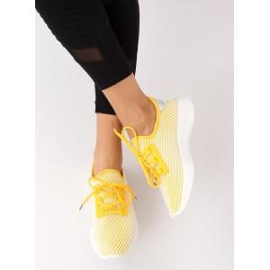 Moderné dámske tenisky v žltej farbe
