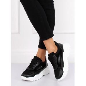 Čierne dámske tenisky na platforme