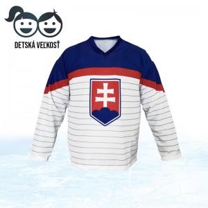 Biely detský hokejový dres Slovenskej reprezentácie