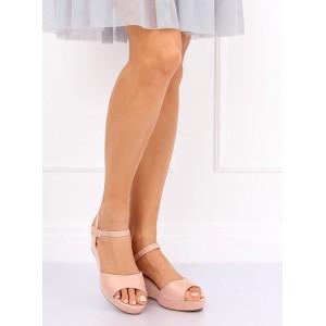 Dámske platformové ružové sandálky na leto