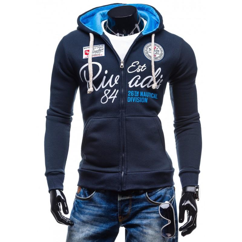 9b73b82b1b68 Pánske značkové mikiny s kapucňou a zipsom - fashionday.eu