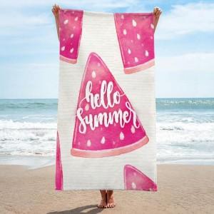 Ružový uterák na pláž s motívom melónov