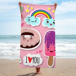 Ružový kvalitný uterák s rozprávkovým motívom
