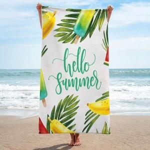 Biely uterák s letným motívom