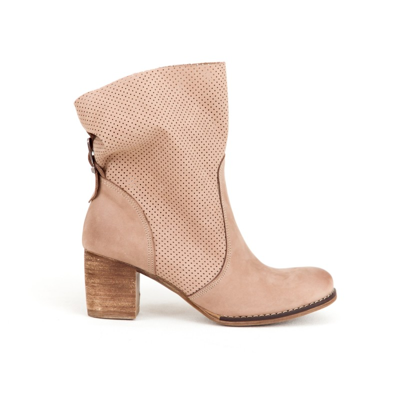 eeaed30d7e Originálne dámske kožené kotníkové topánky v ružovej farbe