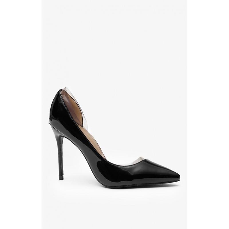 6cb5349922 Lacné dámske lodičky čiernej farby bez platformy - fashionday.eu