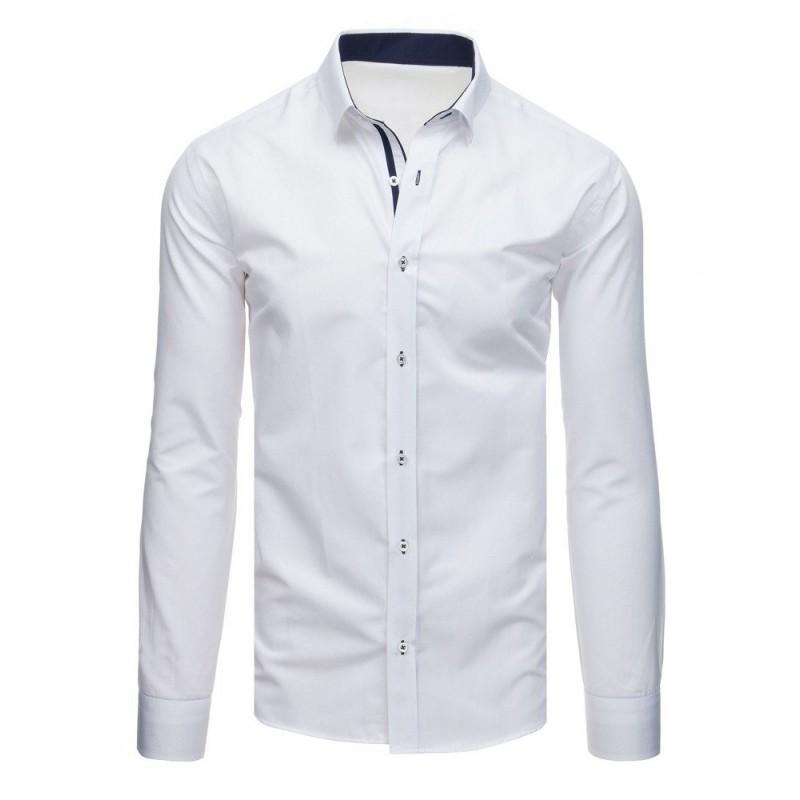 39fcbc06e48f Elegantná biela košeľa s dlhým rukávom do oblekov