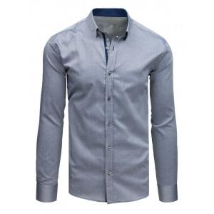 Pánska košeľa s dlhým rukávam v slim strihu a v sivej farbe