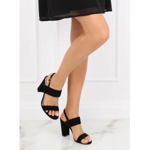 10f6048f1e62 Elegantné čierne dámske sandále na vysokom opätku