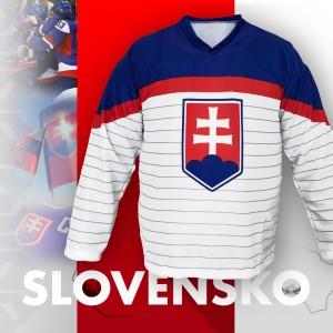 Biely hokejový slovenský dres MS 2019