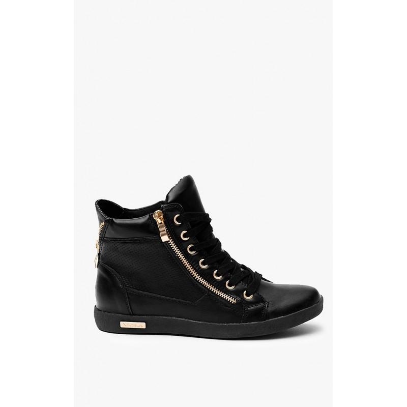 Predchádzajúci. Moderné dámske šnúrovacie topánky čiernej farby ... 5518bf356cb