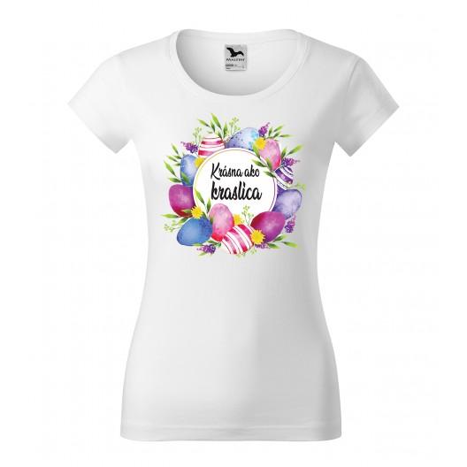 Dámske veľkonočné tričko Krásna ako kraslica